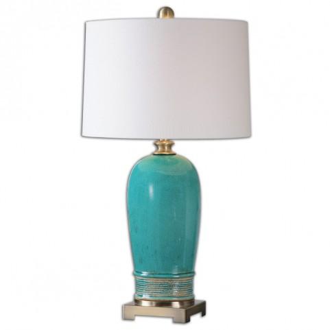 Albertus Crackle Blue Table Lamp