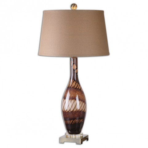 Domitia Brown Glass Table Lamp