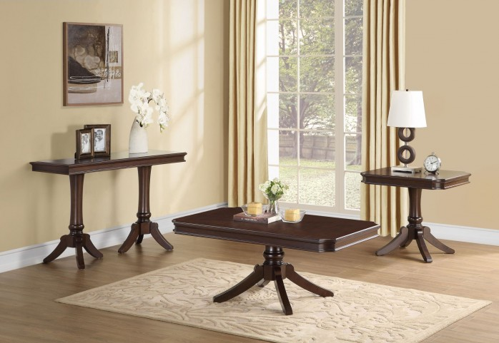 Marston Dark Cherry Occasional Table Set