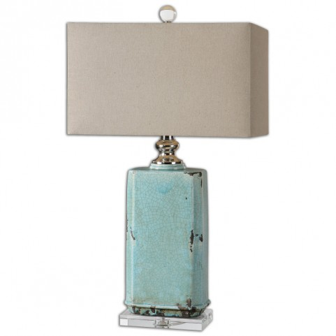 Adalbern Blue Crackle Lamp