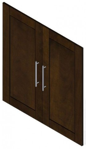 "Pur Chocolate 2 Door Set For 36"" Storage Unit"