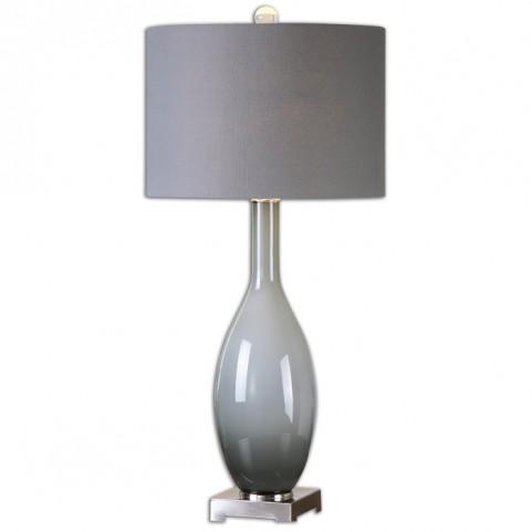 Vallo Smoke Gray Glass Lamp