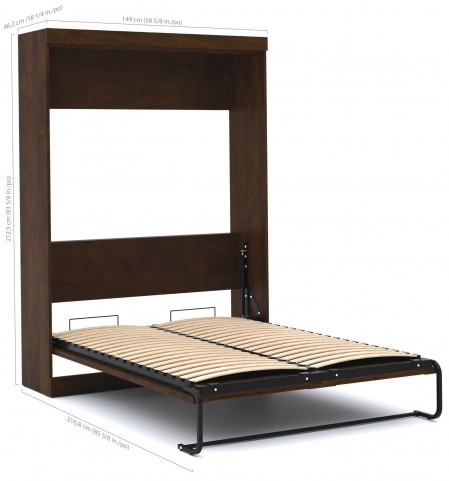 Pur Chocolate Full Wall Bed