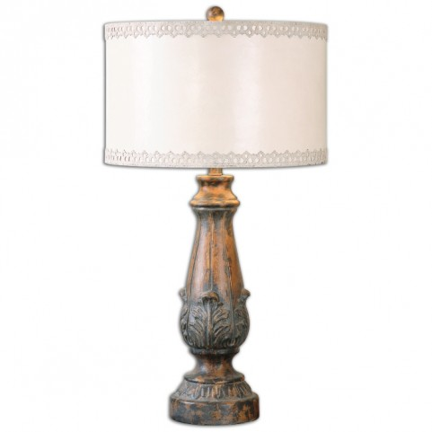 Valdarno Aged Pecan Table Lamp