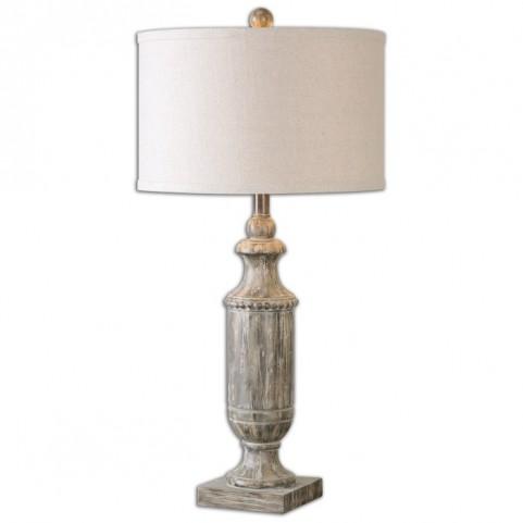 Agliano Aged Dark Pecan Lamp