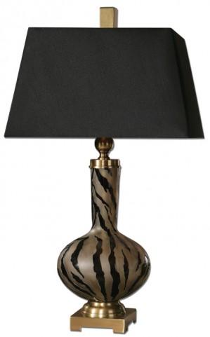 Amur Modern Smoked Glass Lamp