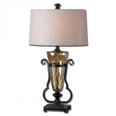 Aemiliana Amber Glass Table Lamp