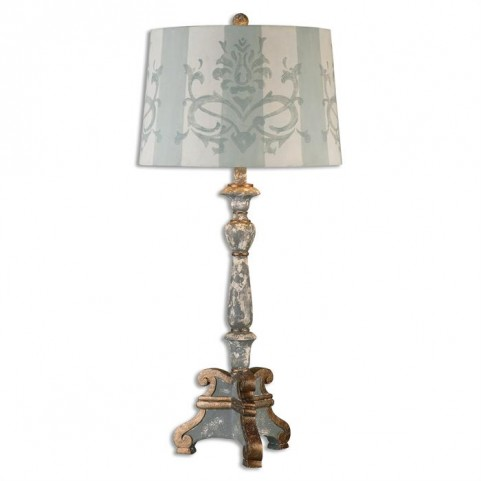 Trimonte Aged Gray Table Lamp