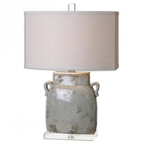 Melizzano Ivory-Gray Table Lamp