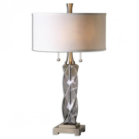 Spirano Gray Glass Table Lamp