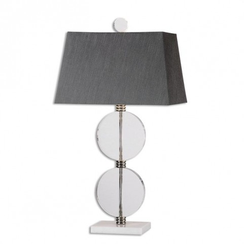 Telesino Crystal Disk Table Lamp