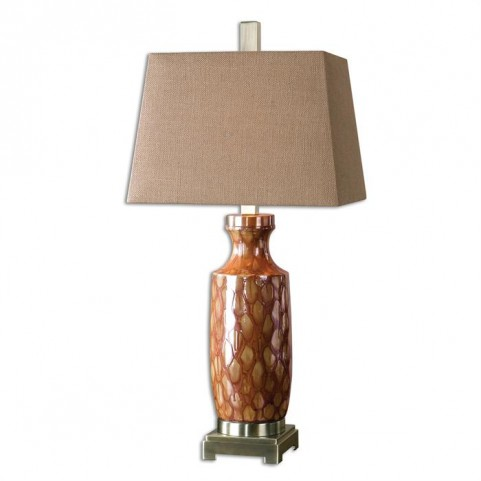 Aguilar Rust Red Table Lamp