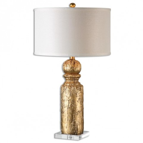 Lorenzello Gold Leaf Table Lamp