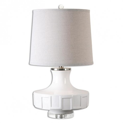 Calvenzano Gloss White Table Lamp