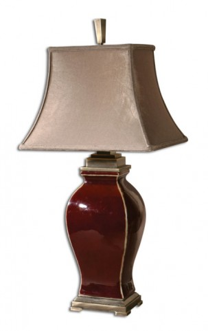 Rory Burgandy Table Lamp
