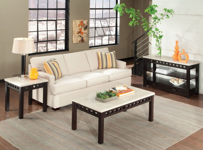 Gateway Off White Occasional Table Set