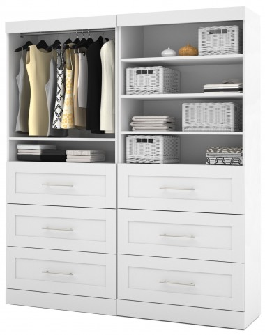 "26856 Pure White 72"" Classic Drawer Unit"