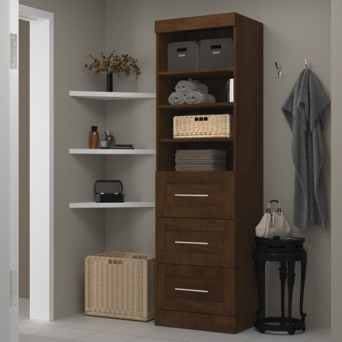 "Pur Chocolate 25"" 3 Drawer Storage Unit"