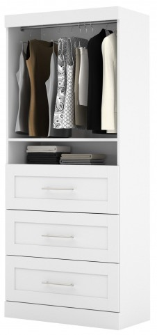 "26872 Pure White 36"" 3 Drawer Storage Unit"