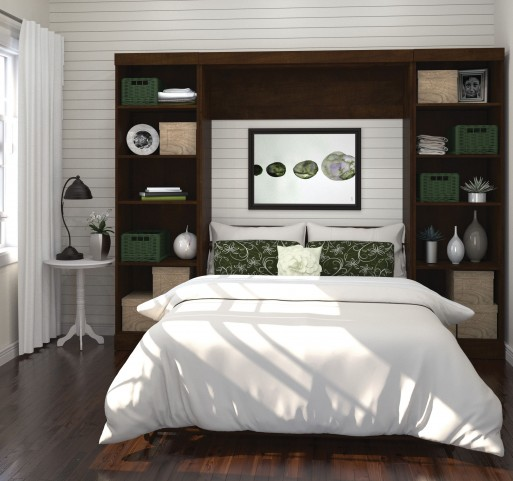"Pur Chocolate 109"" Open Storage Full Wall Bed"