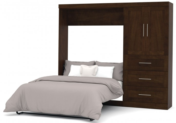 "Pur Chocolate 95"" Door Full Wall Bed"