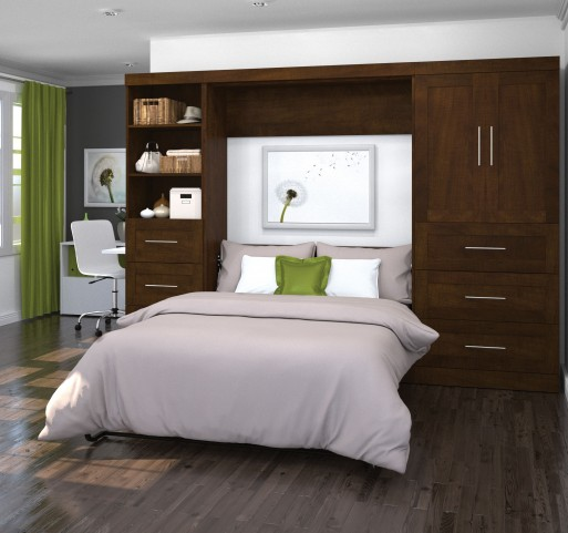 "Pur Chocolate 120"" Door Full Wall Bed"