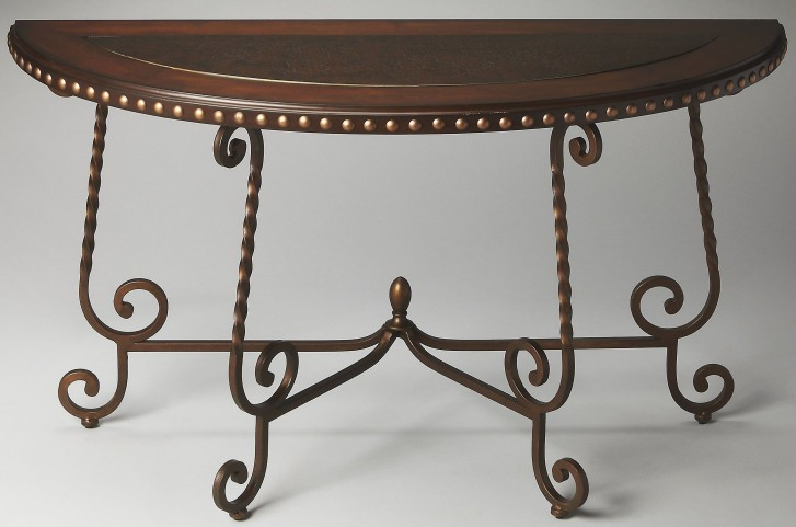 Nottingham Metalworks Demilune Console Table
