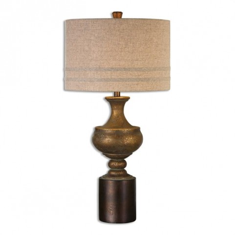 Giuliano Antiqued Gold Table Lamp