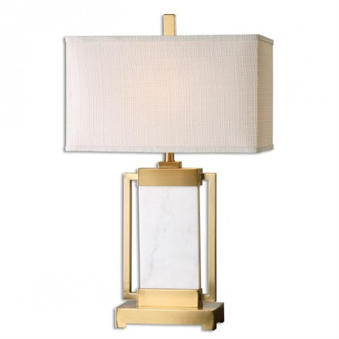 Marnett White Marble Table Lamp