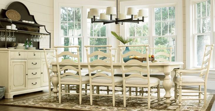Riverhouse River Boat Rectangular Extendable Dining Room Set