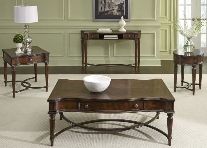 Regent Park Satin Cherry Occasional Table Set