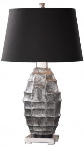 Pechora Gunmetal Gray Lamp