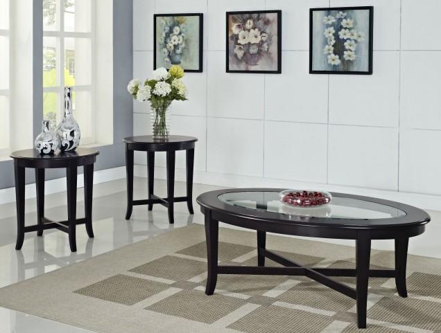 Sommerset Dark Merlot 3 Piece Occasional Table Set