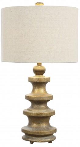 Guadalete Antiqued Gold Lamp