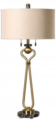 Arcella Brushed Brass Lamp