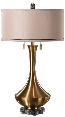 Rubbiano Brushed Brass Lamp