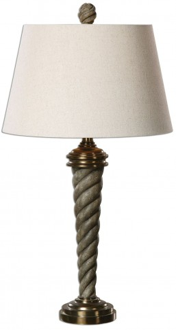 Tornata Spiraled Gray Lamp