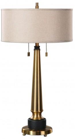 Monroe Brushed Brass Lamp