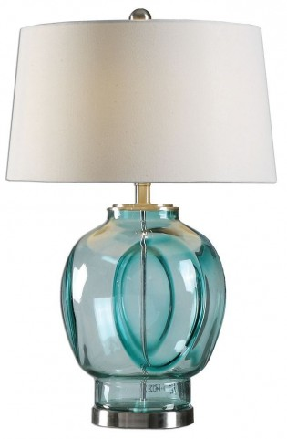 Soresina Blue Green Glass Lamp