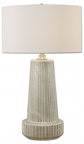 Delmona Fluted Mercury Glass Lamp
