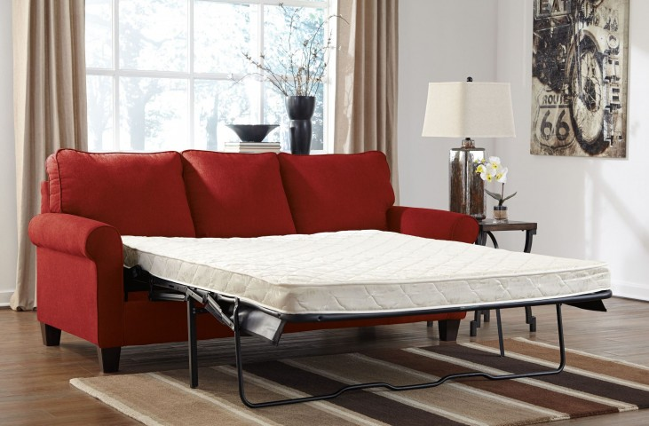 Zeth Crimson Queen Sofa Sleeper