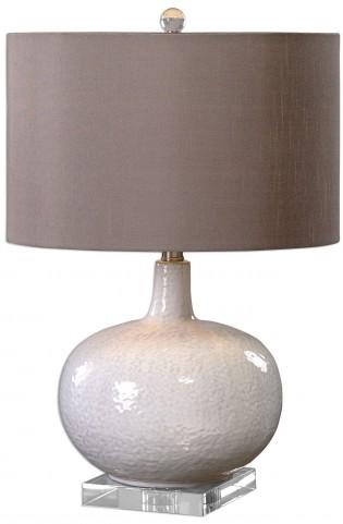 Parvati White Glaze Table Lamp