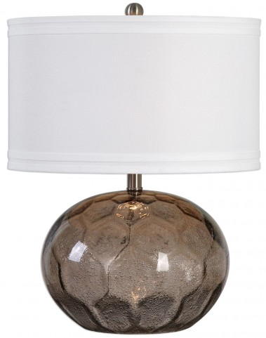 Jasperse Amber Glass Lamp