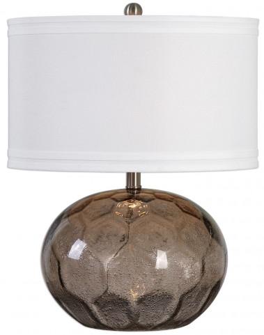 Jasperse Amber Glass Lamp
