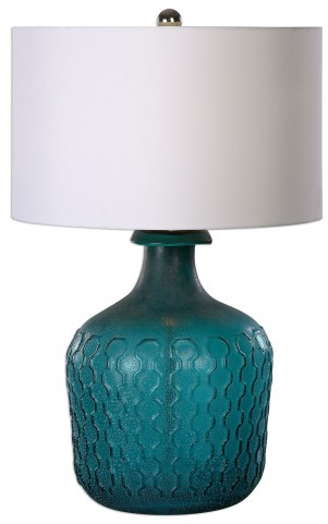 Laval Blue Glass Table Lamp