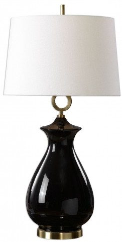 Cosia Gloss Black Table Lamp