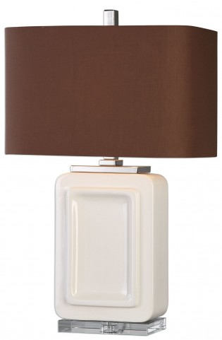 Dantzler Gloss White Lamp