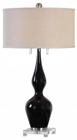 Burilda Black Glass Table Lamp
