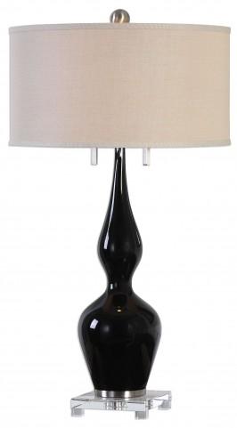 Burilda Black Glass Table Lamp