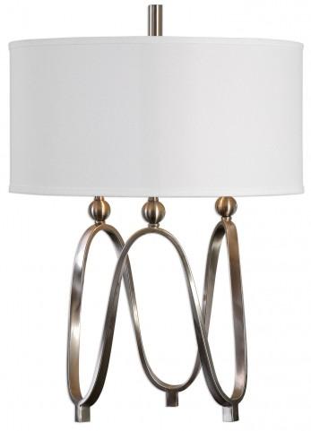 Akiro Brushed Nickel Table Lamp